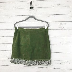 J.Crew - Bead Encrusted Suede Mini Skirt - Small